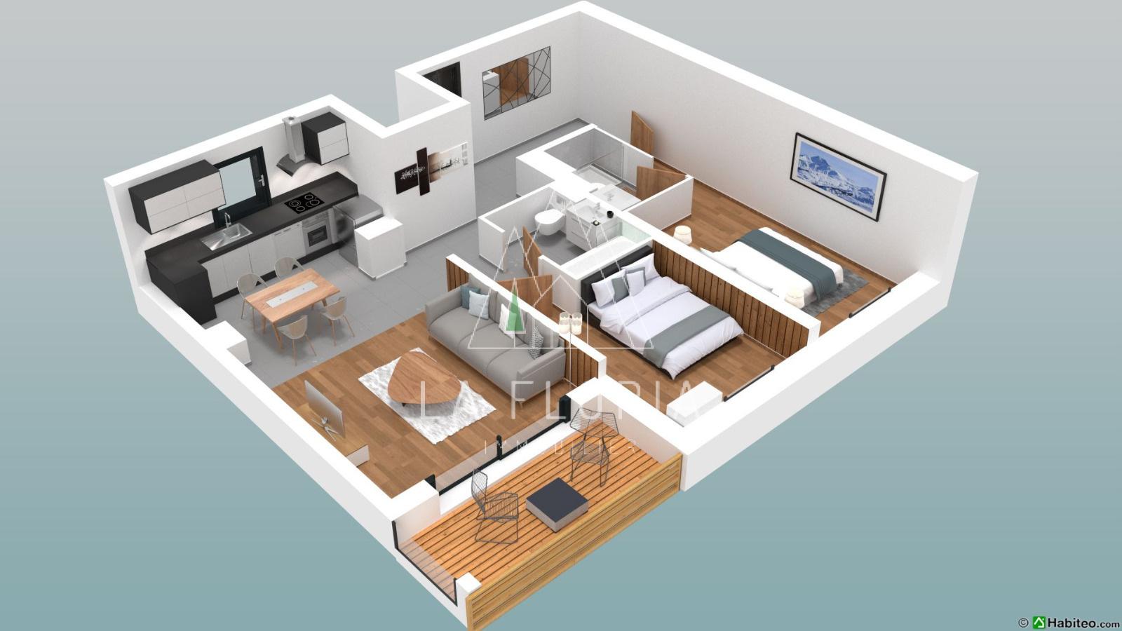 2 BEDROOM 63 M2 APARTMENT IN NEW UPMARKET DEVELOPMENT, CHAMONIX LES PRAZ