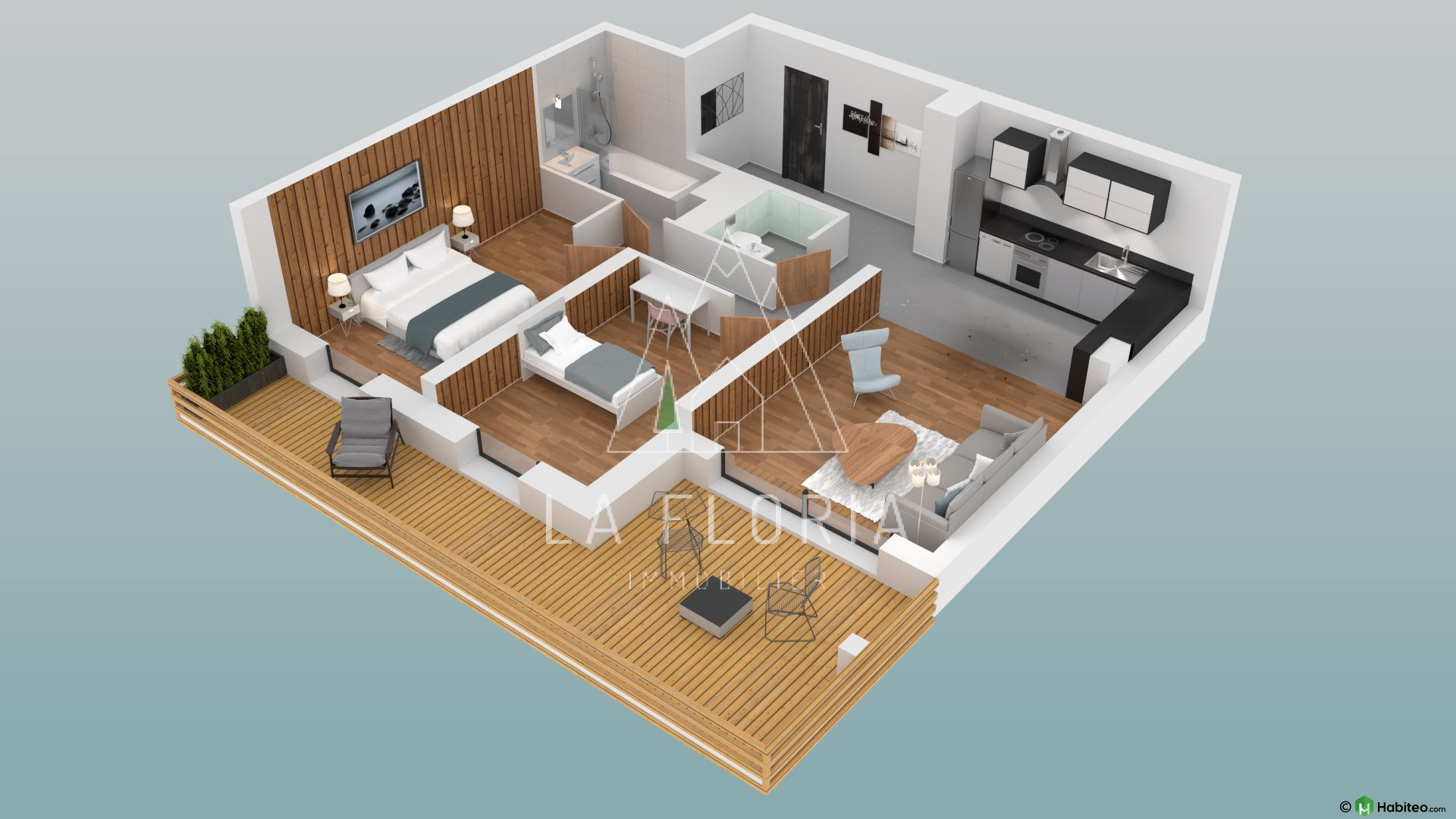 UNDER OFFER / 2 BEDROOM 63 M2 APARTMENT IN NEW LUXURY DEVELOPMENT, CHAMONIX LES PRAZ